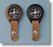 Two Models of Stanley London Luminescent Metal Compasses with Straps