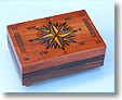 Secret Opening Compass Rose Cartography Box