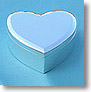 Medium Silver Plated Heart Shaped Jewelry Box
